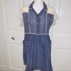 Paul & Joe Sister Popover Striped Shirt Dress 38/2